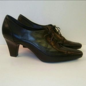 Aerosoles Stacked Heel Leather Booties, 10